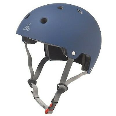 Triple Eight 3021 Certified Rubber Helmet Blue X-Small/Small New