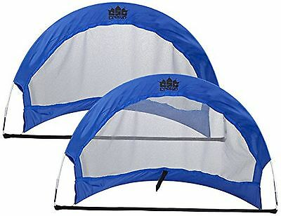 Crown Sporting Goods Set of 2 4-Feet Pop up Soccer Goals with 2 Carrying ... New