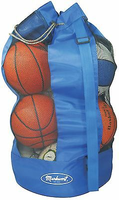 Markwort 8 Basketball Capacity Ball Bag Blue New