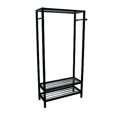 Ore International Black Hanger and Shoe Rack Stand New