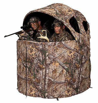 Ameristep 1RX2C029 Deluxe 2 Person Tent Chair Blinds Realtree Xtra New