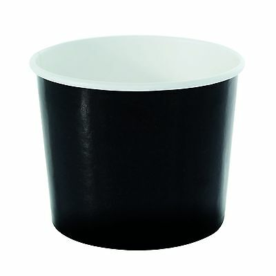 "PacknWood Black Paper To-Go Bucket Container  3.54"" Diameter x 2.83"" Heig... New"