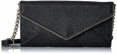 Rebecca Minkoff Cleo Wallet On A Chain Cross-Body Bag Black One Size New