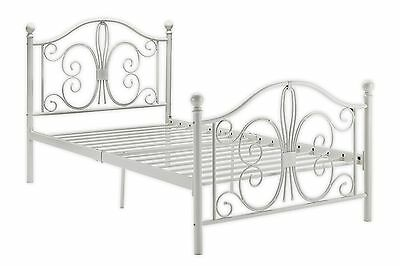 DHP Bombay Metal Bed Twin White New