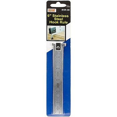 Quint Measuring Systems Stainless Steel Hook Rule 6-Inch New