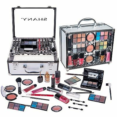 SHANY Cameo Cosmetics Carry All Trunk Makeup Kit with Reusable Aluminum C... New