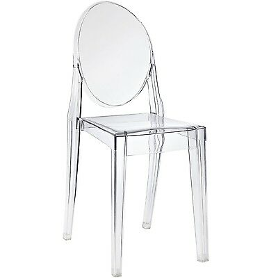 Nicer Furniture Set of 1 Philippe Starck Louis XVI Ghost Side Chair witho... New