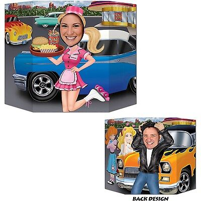 Beistle 57852 1-Pack Car Hop/Greaser Photo Prop 3-Feet 1-Inch by 25-Inch New