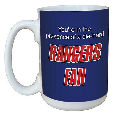 Tree-Free Greetings lm44187 Rangers Hockey Fan Ceramic Mug with Full-Size... New