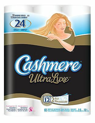Cashmere UltraLuxe Double Roll Premium Bathroom Tissue 165 Sheets per Rol... New
