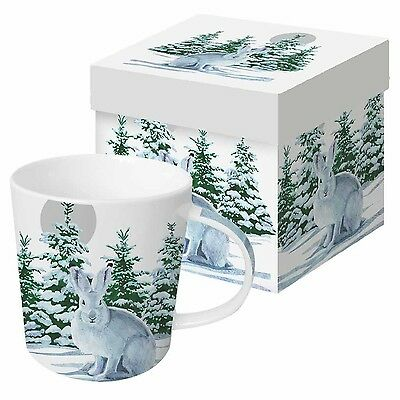 Paperproducts Design Gift Boxed Porcelain Mug 13.5 oz Snow Rabbit Multico... New