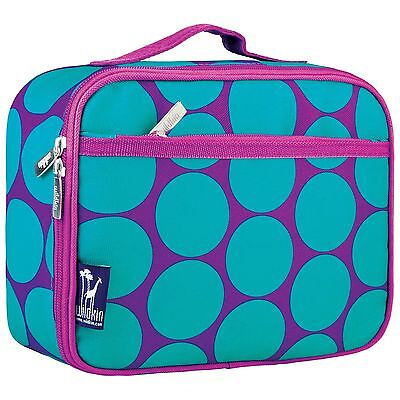 Wildkin Big Dots Aqua Lunch Box New