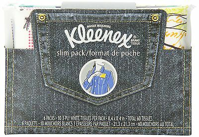 Kleenex Everyday Tissues Wallet - 6 Packets of 10 tissues 6 Pack New
