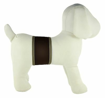 PlayaPup Dog Belly Bands for Incontinence/Training Dark Brown Small New