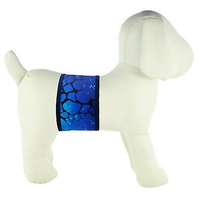 PlayaPup Dog Belly Band for Incontinence/Training Large Sea Monster Blue New