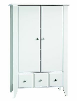 Child Craft Ready-to-Assemble Armoire Matte White New