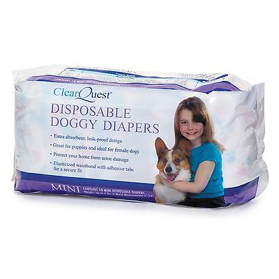 ClearQuest Disposable Doggy Diapers Mini New