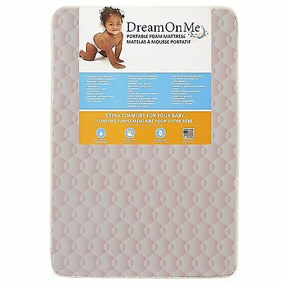 "Dream On Me Foam Carina Collection Pack N Play Mattress Wave Pink 3"" New"