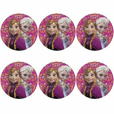 Zak Designs Disney Frozen Movie Melamine Plate 8-Inch Set of 6 New