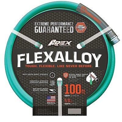 "Apex 8550-100 FlexAlloy Garden Hose 5/8"" x 100' 5/8"" x 100' New"