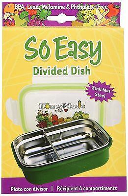 So Easy Stainless Steel Divided Dish with Lid New