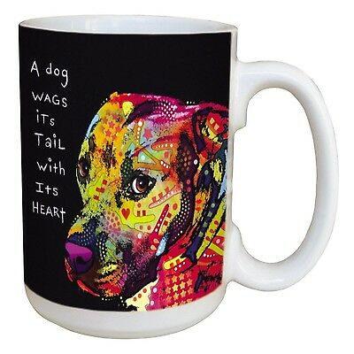 Tree-Free Greetings 46211 Dean Russo Wag Heart Ceramic Mug with Full-Size... New