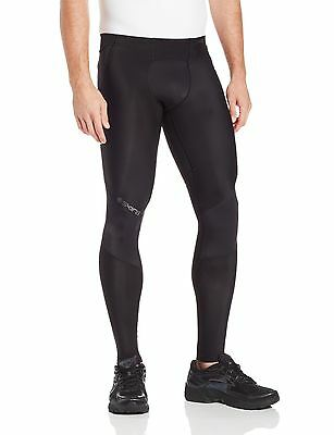SKINS Men's A400 Long Tights Black/Charcoal XLL New