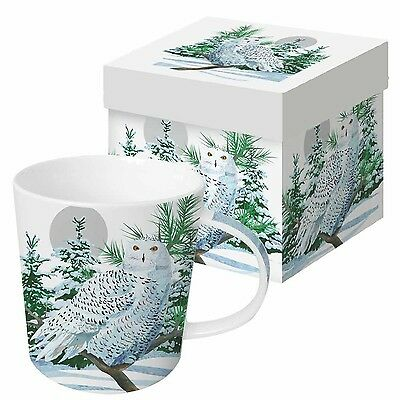 Paperproducts Design Gift Boxed Porcelain Mug 13.5 oz Snow Owl Multicolor New
