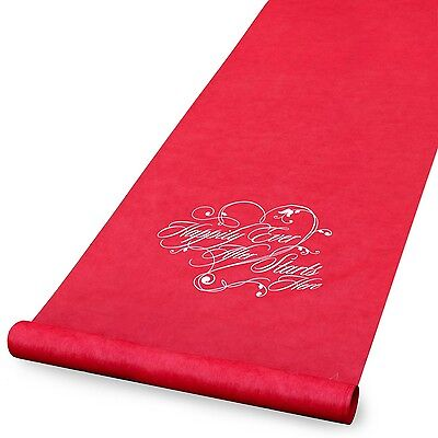 Hortense B. Hewitt Aisle Runner Wedding Accessories Red Happily Ever After New