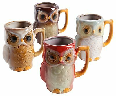 Gibson Elite Woodley Mugs 14-Ounce Multicolor New
