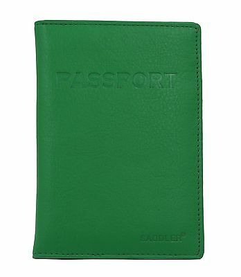 SADDLER Jelly Bean Leather International Passport Holder & Credit Card Ho... New