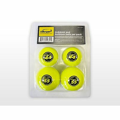 Killerspin 203-21 44 / 55 mm Table Tennis Balls 4-Pack New