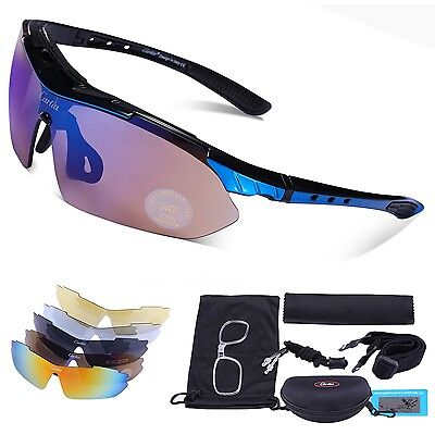 Carfia Polarized Sports Sunglasses UV400 Outdoor Cycling Glasses for Men ... New