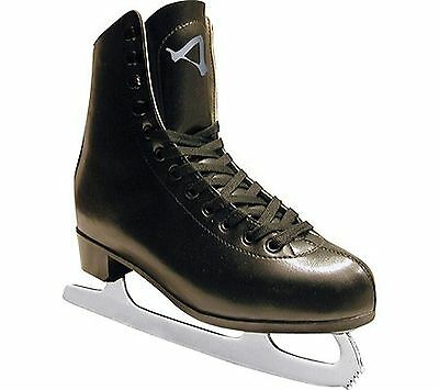 American Athletic Shoe Men's Leather Lined Figure Skates Black 10 New