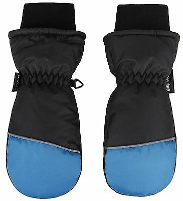 ANDORRA Boys Color Block Weather-Proof Thinsulate Snow Mittens Long Snow ... New