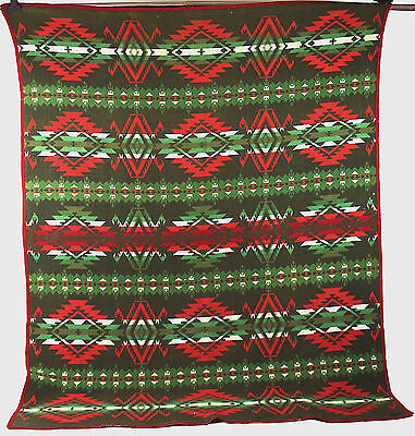 Antique Wool Pendleton Blanket, circa 1915-1920, Indian Trade Blanket, Banded
