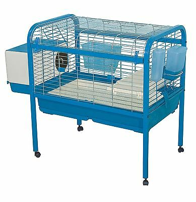 Marchioro Luna 82 Cage for Small Animals with Wheels 32.25-Inch Blue New