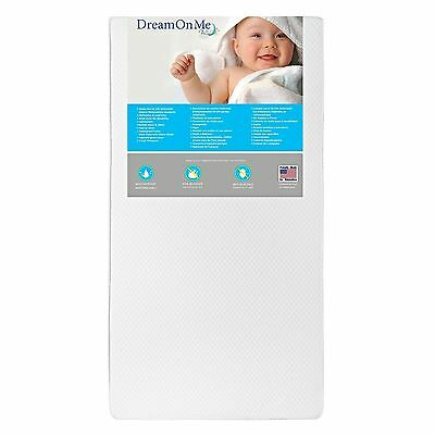Dream On Me 2 in 1 Foam Core Crib and Toddler Bed Mattress Lavender 6-Inch New