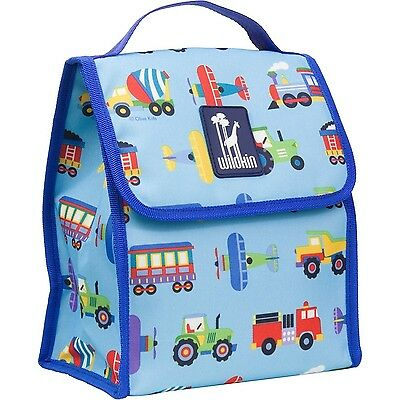Wildkin Olive Kids Trains/Planes/Trucks Munch N Lunch Bag New