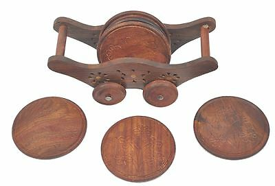 Wooden Coaster Trolly Shape with Inlay work New