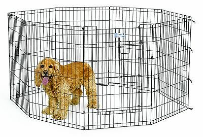 Midwest Homes for Pets Exercise Pen for Pets with Split Max Lock Door 36-... New