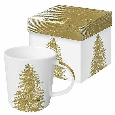 Paperproducts Design Gift Boxed Porcelain Mug 13.5 oz Botanical Engraved ... New