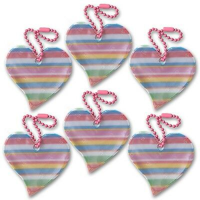 funflector Safety Reflector - Heart - Rainbow - 6-pack Heart-Rainbow-6-pack New