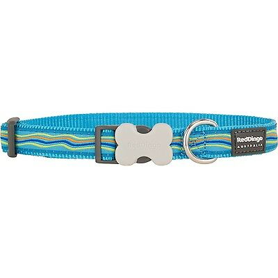 Red Dingo Dream Stream Turquoise Dog Collar 20mm New