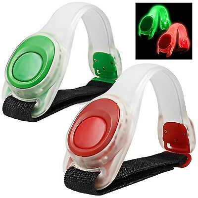 2pcs/pack maxin LED Light Bright Armband Silicone Reflective Running Gear... New