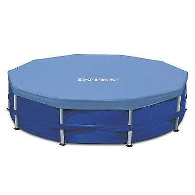 Intex 15-Foot Round (10-inch overhang) Pool Cover Blue New