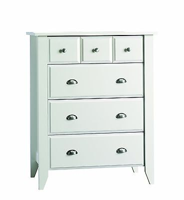 Child Craft Ready-to-Assemble 4-Drawer Chest Matte White Pack of 1 New