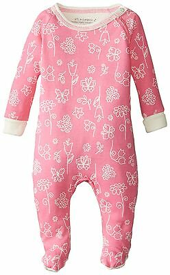 Kushies Baby It's My Planet 2 Side Zip Sleeper Pink Print 3 Months New