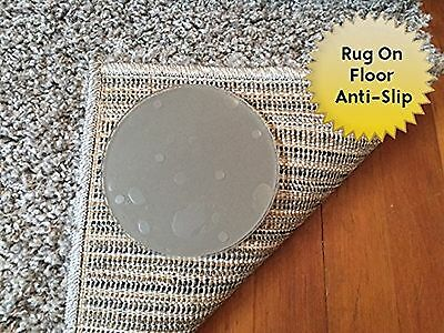Sticky Discs Non-Slip Rug Pads For Rugs On FLOOR Anti-Slip. 4 Pack. Desig... New