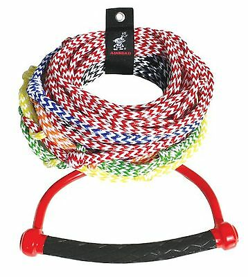 Kwik Tek Airhead 8-Section Ski Rope with Diamond Grip Handle 75-Feet New